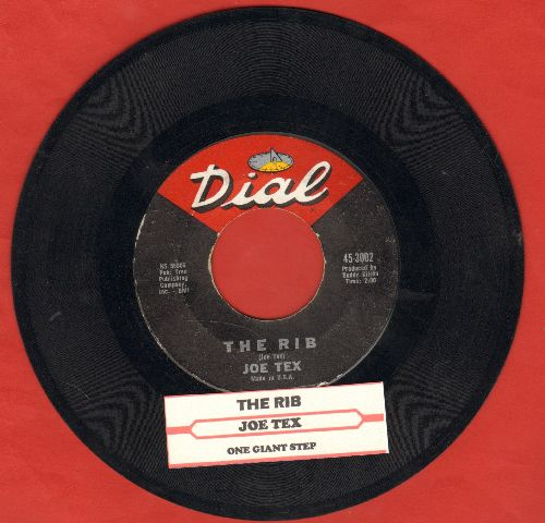 Tex, Joe - The Rib/One Giant Step (with juke box label) - EX8/ - 45 rpm Records