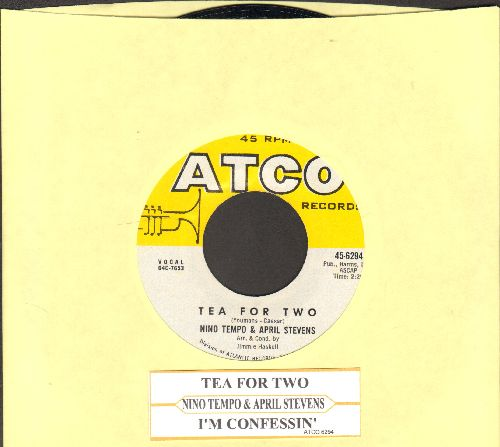 Tempo, Nino & April Stevens - Tea For Two/I'm Confessin' (with juke box label) - NM9/ - 45 rpm Records