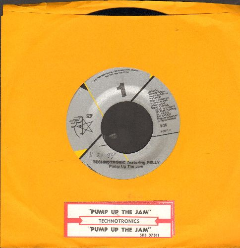 Technotronic - Pump Up The Jam/Pump Up The Jam (instrumental) (with juke box label) - NM9/ - 45 rpm Records
