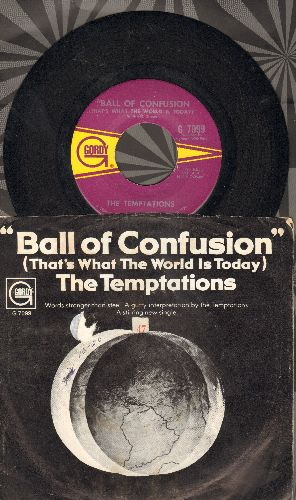 Temptations - Ball Of Confusion/It's Summer (with picture sleeve) - EX8/VG7 - 45 rpm Records