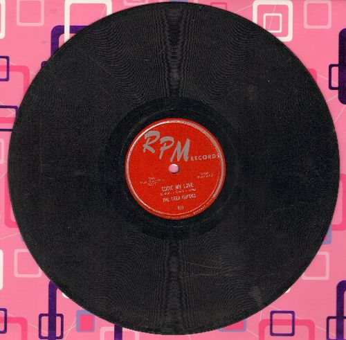 Teen Queens - Eddie My Love/Just Goofed (10 inch 78rpm record) - VG7/ - 45 rpm Records