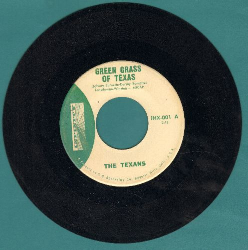 Texans - Green Grass Of Texas/Bloody River (The Texans are Johnny and Dorsey Burnette, 1961 first pressing) - NM9/ - 45 rpm Records