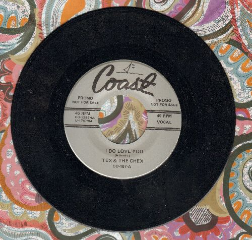 Tex & The Chex - I Do Love You/The Springer (by The Dells on flip-side) (re-issue) - EX8/ - 45 rpm Records