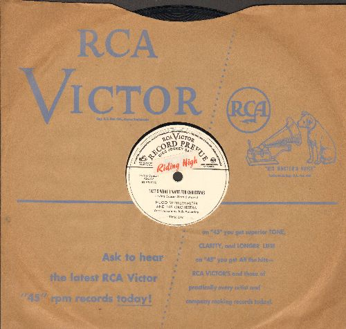 Judy Valentine - That's What I Want For Christmas/If I Forget You (by Merv Griffin on flip-side) (10 inch vinyl 78 rpm record, DJ advance pressing with RCA company sleeve) - EX8/ - 78 rpm