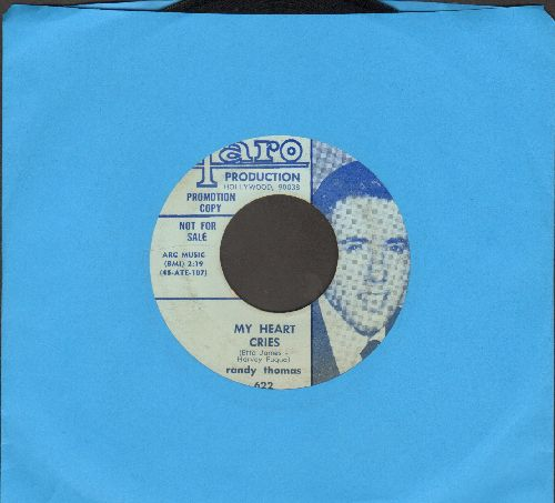 Thomas, Randy - My Heart Cries/Are You Ready? (DJ advance pressing, wol) - VG7/ - 45 rpm Records