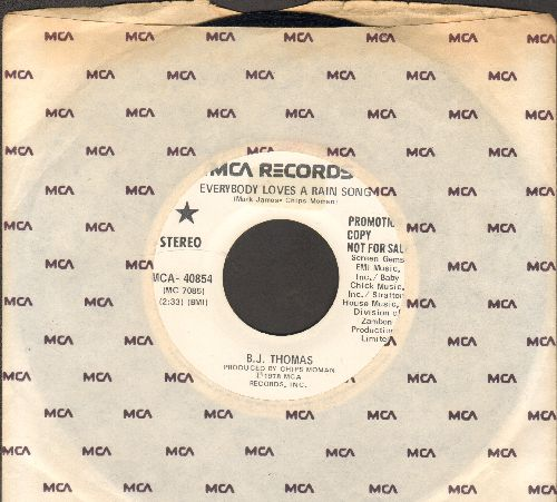 Thomas, B. J. - Everybody Loves A Rain Song (double-A-sided DJ advance pressing with MCA company sleeve) - NM9/ - 45 rpm Records
