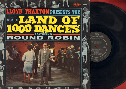 Round Robin - Lloyd Thaxton presents The Land of 1000 Dances featuring Round Robin: Foot Stompin', Mashed Potato Time, Pony Express, The Hully Gully (Vinyl MONO LP record) - EX8/VG7 - LP Records