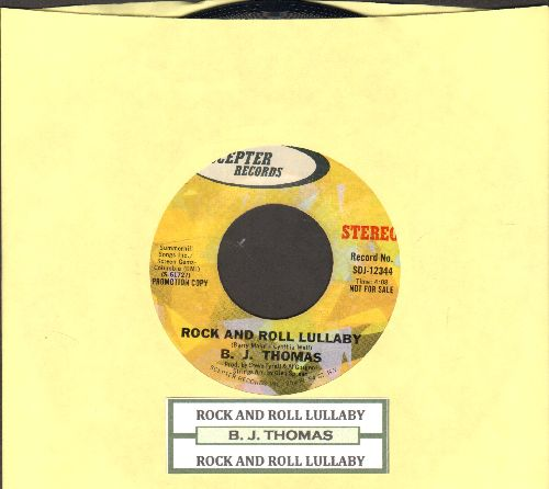 Thomas, B. J. - Rock And Roll Lullaby (double-A-sided DJ advance pressing with MONO and STEREO version, with juke box label) - NM9/ - 45 rpm Records