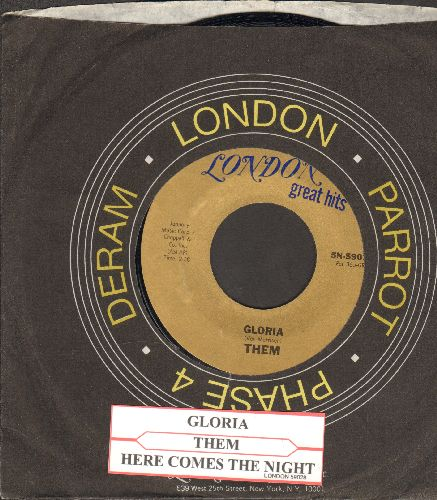 Them - Gloria/Here Comes The Night (double-hit re-issue with juke box labe and company sleeve) - EX8/ - 45 rpm Records