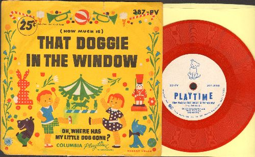 Sweetland, Sally - (How Much Is) That Doggie In The Window/Oh, Where Has My Little Dog Gone? (5 inch 78rpm record, small soindle hole, with picture sleeve) - VG7/VG7 - 78 rpm