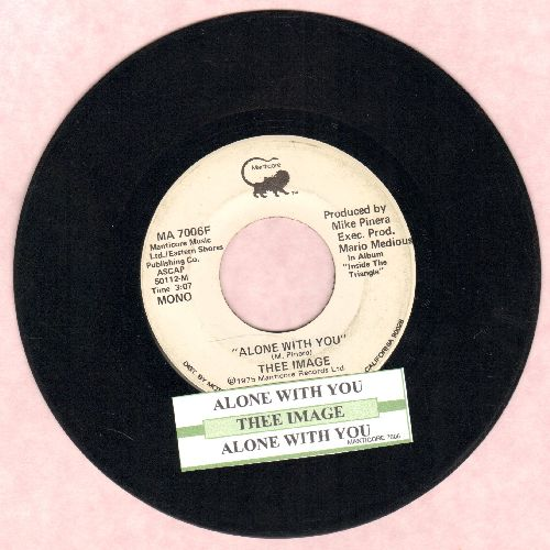 Thee Image - Alone With You (double-A-sided DJ advance pressing with juke box label) - EX8/ - 45 rpm Records