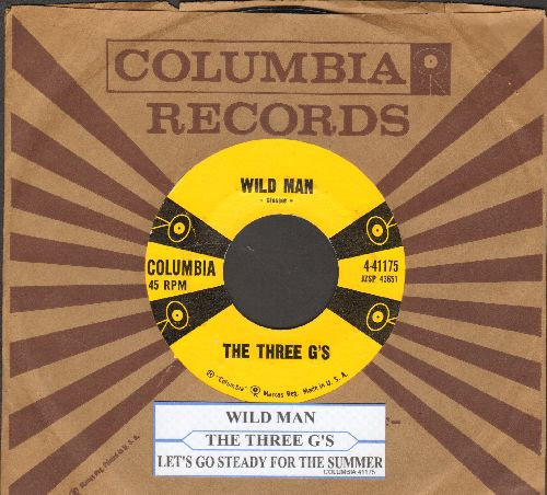 Three G's - Let's Go Steady For The Summer/Wild Man (with vintage Columbia company sleeve and juke box label) - NM9/ - 45 rpm Records
