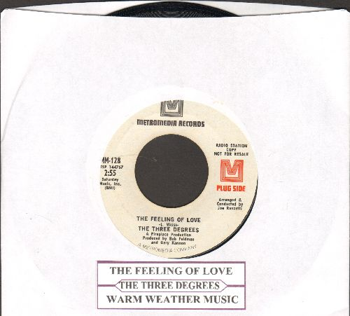 Three Degrees - The Feeling Of Love/Warm Weathe Music (DJ advance pressing with juke box label) - NM9/ - 45 rpm Records