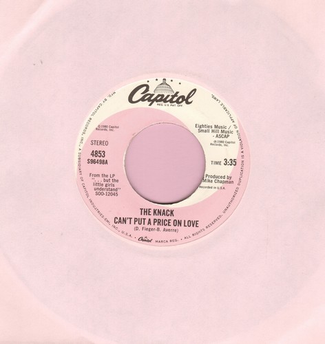 Knack - Can't Put A Price On Love/(Havin' A) Rave-Up - EX8/ - 45 rpm Records
