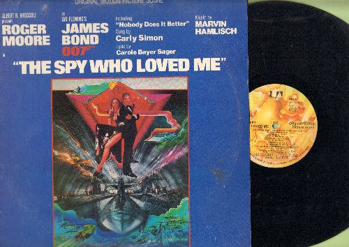 The Spy Who Loved Me - The Spy Who Loved Me - Original Motion Picture Score, Music by Marvin Hamlisch, includes Hit -Nobody Does It Better- by Carly Simon (Vinyl LP record) - EX8/EX8 - LP Records