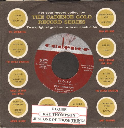 Thompson, Kay - Eloise/Just One Of Those Things (with Cadence company sleeve and juke box label) - VG7/ - 45 rpm Records