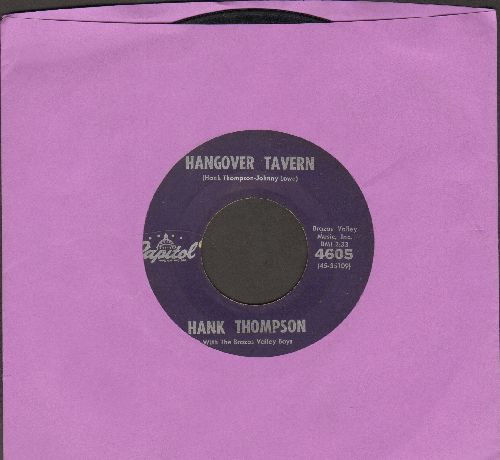 Thompson, Hank - Hangover Tavern/Give The World A Smile - VG7/ - 45 rpm Records