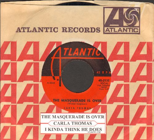 Thomas, Carla - The Masquerade Is Over/I Kinda Think He Does (with juke box label and Atlantic company sleeve) - VG7/ - 45 rpm Records