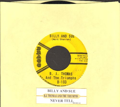 Thomas, B. J. - Billy And Sue/Never Tell (re-issue with juke box label) - VG7/ - 45 rpm Records