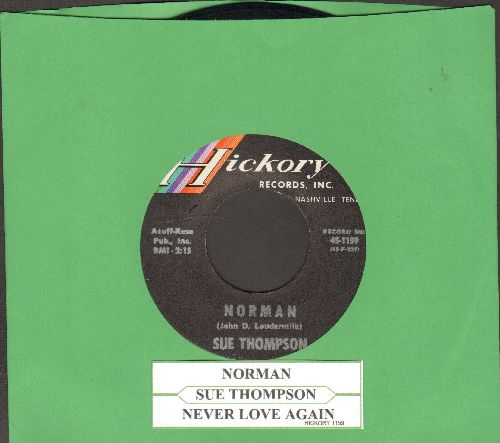 Thompson, Sue - Norman/Never Love Again (with juke box label) - NM9/ - 45 rpm Records