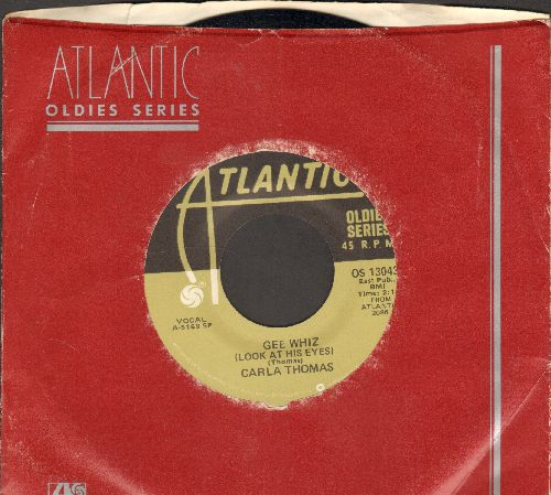 Thomas, Carla - Gee Whiz (look At His Eyes)/B-A-B-Y (doubel-hit re-issue with Atlantic company sleeve) - NM9/ - 45 rpm Records