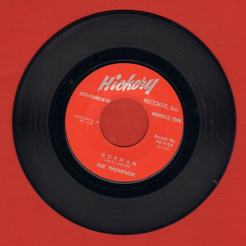 Thompson, Sue - Norman/Never Love Again (burgundy label first pressing) - EX8/ - 45 rpm Records
