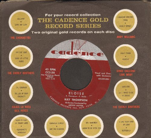 Thompson, Kay - Eloise/Just One Of Those Things (with Cadence company sleeve) - VG7/ - 45 rpm Records