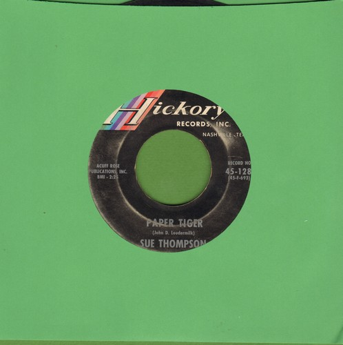 Thompson, Sue - Paper Tiger/Mama, Don't Cry At My Wedding (sol) - VG7/ - 45 rpm Records