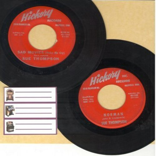 Thompson, Sue - 2 for 1 Special: Sad Movies/Norman (2 vintage first issue 45rpm records for the price of 1!) - EX8/ - 45 rpm Records