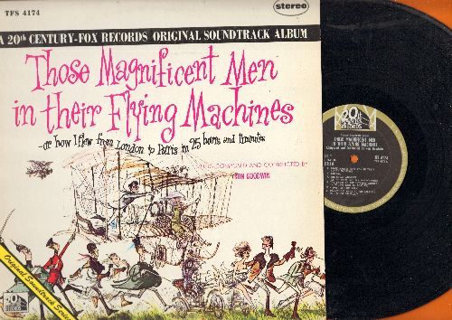 Goodwin, Ron - Those Magnificent Men In Their Flying Machines - Original Motion Picture Sound Track, composed and conducted by Ron Goodwin (vinyl STEREO LP record) - NM9/NM9 - LP Records
