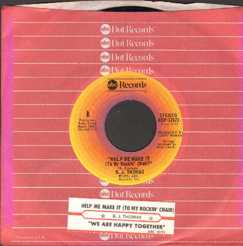 Thomas, B. J. - Help Me Make It (To My Rockin' Chair)/We Are Happy Together (with juke box label and ABC company sleeve) - EX8/ - 45 rpm Records