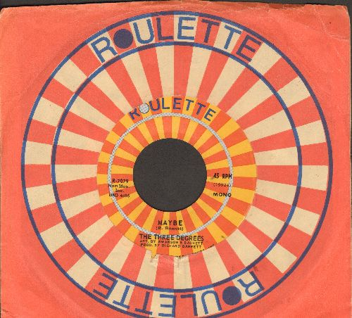 Three Degrees - Maybe/Collage (with Roulette company sleeve) - NM9/ - 45 rpm Records