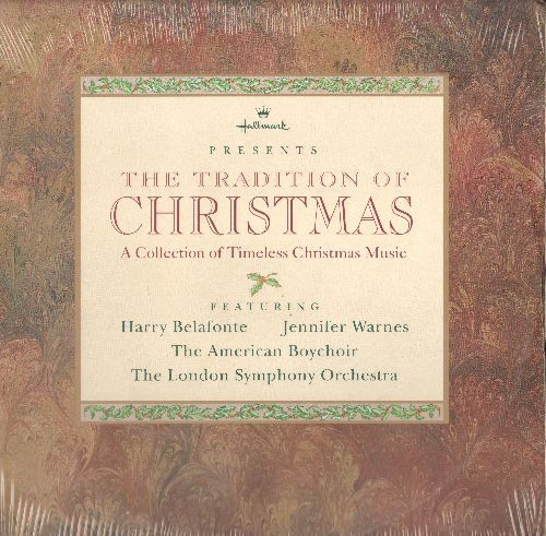 London Symphony Orchestra, Harry Belafonte, Jennifer Warnes, American Boys Choir - Hallmark Presents The Traditions Of Christmas, a collection of Timeless Christmas Music (vinyl LP record, SEALED, never opened!) - SEALED/SEALED - LP Records