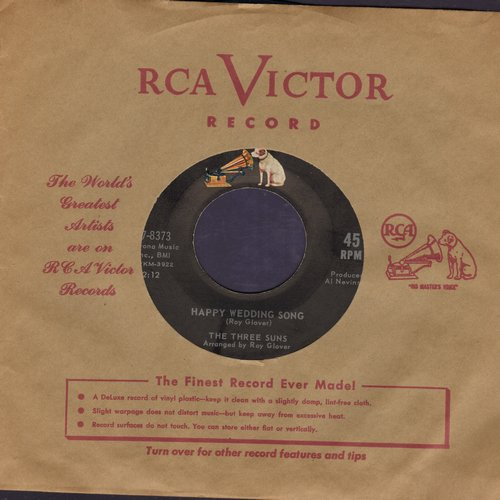 Three Suns - Happy Wedding Song/My Man (with vintage RCA company sleeve) - NM9/ - 45 rpm Records