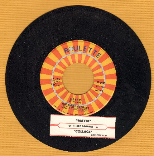 Three Degrees - Maybe/Collage (with juke box label) - NM9/ - 45 rpm Records