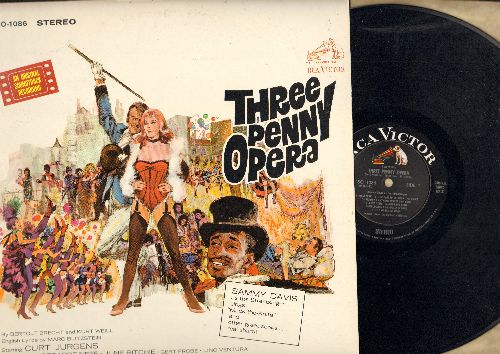 Three Penny Opera - Three Penny Opera - Original Motion Picture Soundtrack featuring Curt Jurgens and Hildegard Neff and Sammy Davis Jr. (vinyl STEREO LP record, NICE condition!) - NM9/NM9 - LP Records