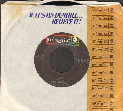 Three Dog Night - One/Chest Fever (with Dunhill company sleeve) - NM8/ - 45 rpm Records