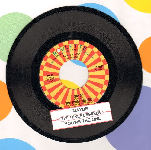 Three Degrees - Maybe/You're The One (authentic-looking re-issue with juke box label) - NM9/ - 45 rpm Records