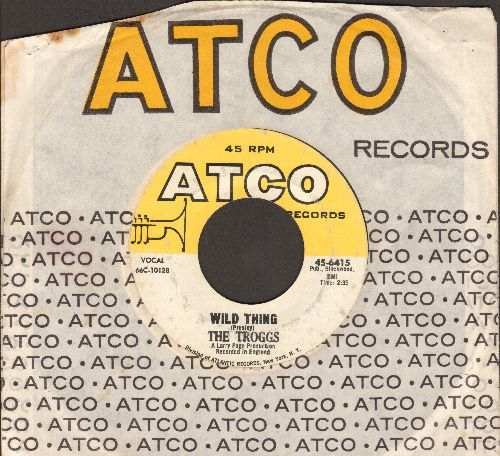 Troggs - Wild Thing (Presley)/With A Girl Like You (with Atco company sleeve) (wol) (bb) - VG7/ - 45 rpm Records
