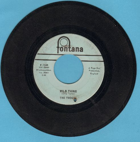 Troggs - Wild Thing (PARTY FAVORITE!)/From Home (bb) - VG7/ - 45 rpm Records