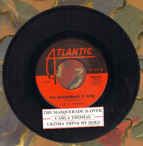 Thomas, Carla - The Masquerade Is Over/I Kinda Think He Does (with juke box label) - VG7/ - 45 rpm Records