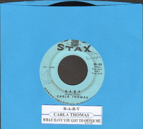 Thomas, Carla - B-A-B-Y/What Have You Got To Offer Me (with juke box label) (minor wol) - EX8/ - 45 rpm Records