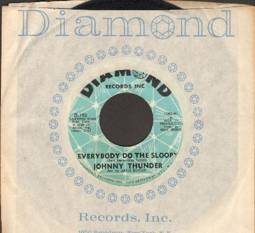 Thunder, Johnny - Everybody Do The Sloopy/Bautiful  (with vintage Diamond company sleeve) - VG7/ - 45 rpm Records