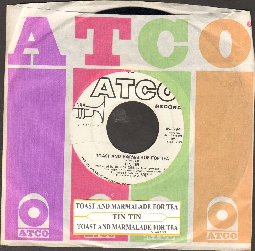 Tin Tin - Toast And Marmalade For Tea (VERY NICE early Bee Gees Sound!)/Manhattan Woman (double-A-sided DJ advance pressing with juke box label and vintage Atco company sleeve) - NM9/ - 45 rpm Records