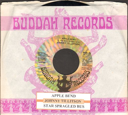 Tillotson, Johnny - Apple Bend/Star Sprangled Banner (with juke box label and Buddah company sleeve) - NM9/ - 45 rpm Records