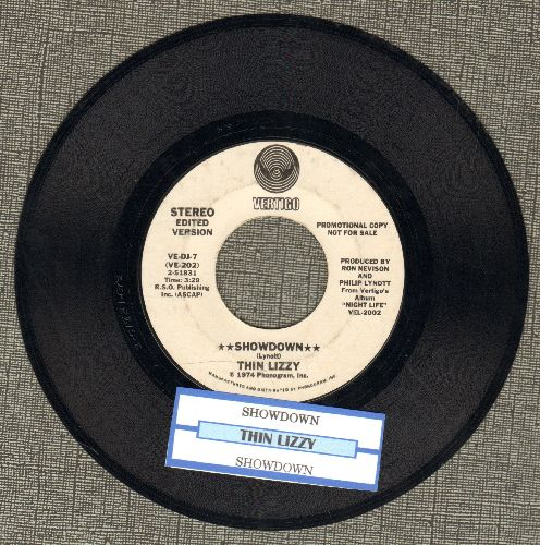 Thin Lizzy - Showdown (RARE double-A-sided PROMO pressing with juke box label) - EX8/ - 45 rpm Records