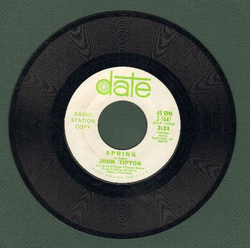 Tipton, John - Spring (double-A-sided DJ advance pressing of ULTRA-SENTIMENTAL Love Ballad) - NM9/ - 45 rpm Records