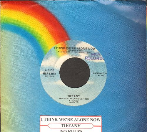 Tiffany - I Think We're Alone Now/No Rules (with juke box label and company sleeve) - NM9/ - 45 rpm Records