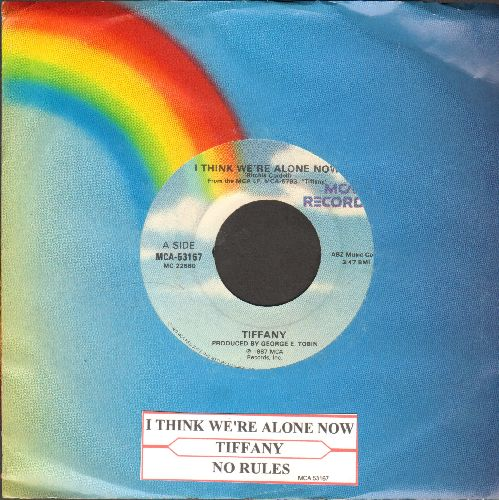 Tiffany - I Think We're Alone Now/No Rules (with juke box label and MCA company sleeve) - NM9/ - 45 rpm Records