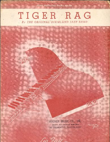 Dixieland Jazz Band - Tiger Rag - Vintage SHEET MUSIC for the Nostalgic Novelty Dance Classic! - VG7/ - Sheet Music